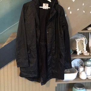 Jackets & Blazers - BY THE BIAS canvas vintage utility rain coat